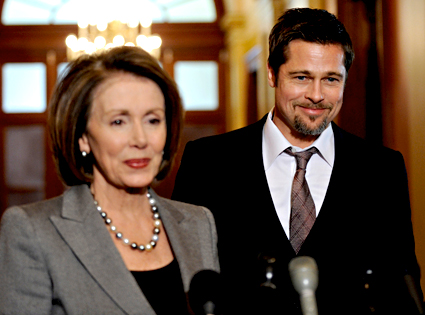 Nancy Pelosi, Brad Pitt