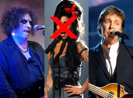 Robert Smith, Amy Winehouse, Paul McCartney