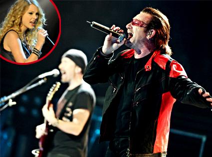 U2, Bono, Edge, Taylor Swift