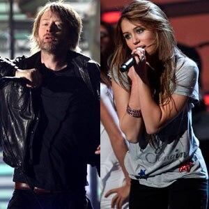 Thom Yorke, Miley Cyrus