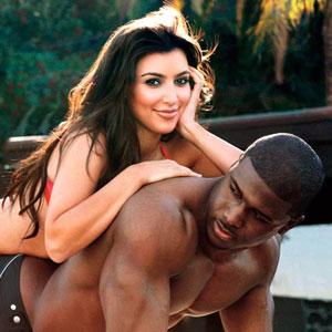 Kim Kardashian, Reggie Bush, GQ Magazine