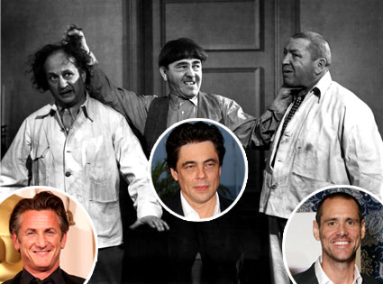 Three Stooges, Sean Penn, Benicio Del Toro, Jim Carrey