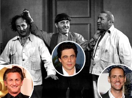 Three Stooges, Sean Penn, Benicio Del Toro, Jim Carrey
