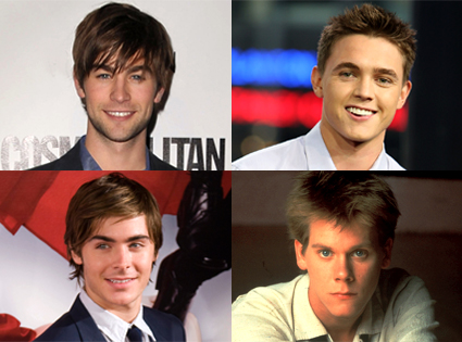 Chace Crawford, Jesse McCartney, Zac Efron, Kevin Bacon