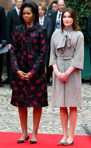 Michelle Obama, Carla Bruni