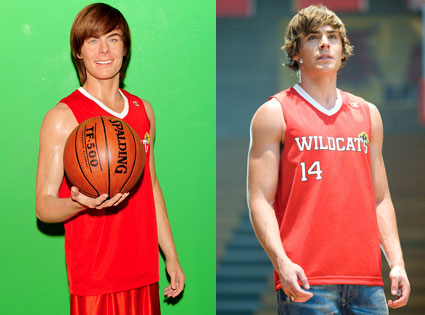 Zac Efron, High School Musical, Wax Efron