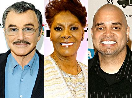Burt Reynolds, Dionne Warwick, Sinbad