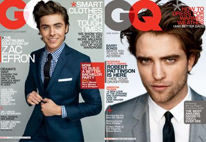 Zac Efron, Robert Pattinson, GQ