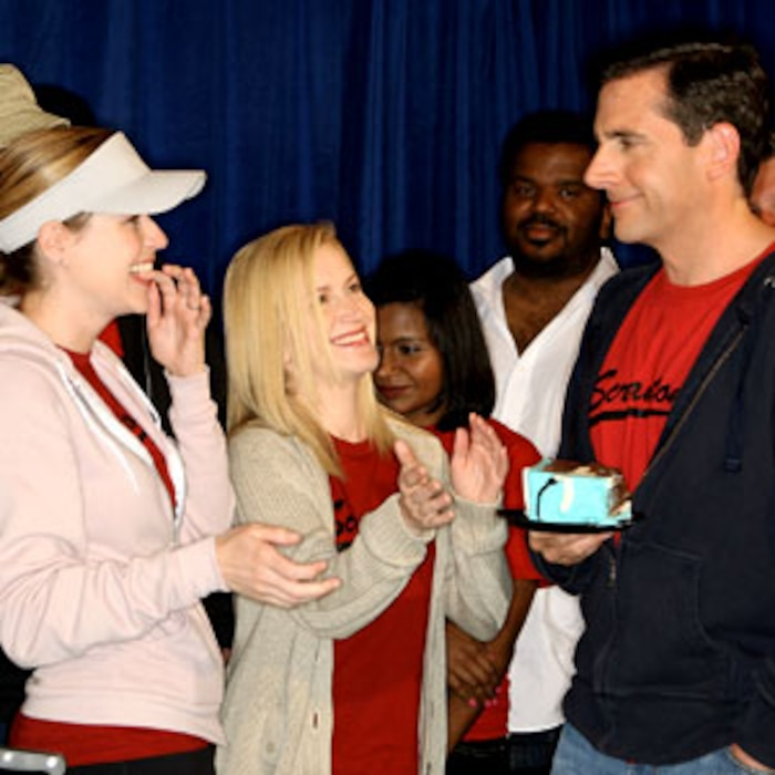 Jenna Fischer, Angela Kinsey, Steve Carell, The Office