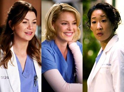 Ellen Pompeo, Katherine Heigl, Sandra Oh, Grey's Anatomy