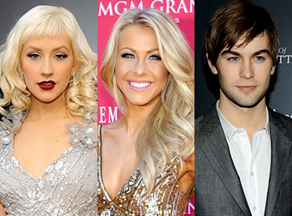 Christina Aguilera, Julianne Hough, Chace Crawford