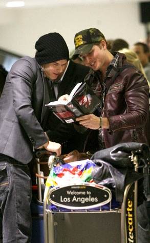 Peter Facinelli, Kellan Lutz, New Moon