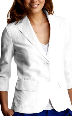 Gap Crop-Sleeved Linen Blazer