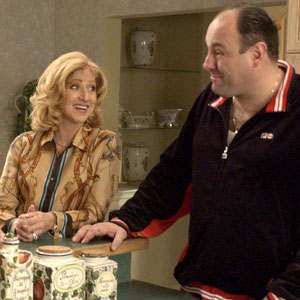 Edie Falco, James Gandolfini, The Sopranos