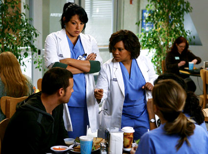 Justin Chambers, Sara Ramirez, Chandra Wilson, Ellen Pompeo, Grey's Anatomy
