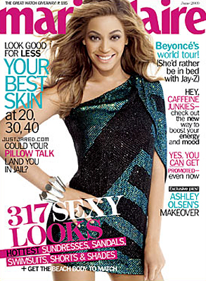 Beyonce Knowles, Marie Claire Cover
