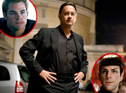 Tom Hanks, Angels and Demons, Chris Pine, Zachary Quinto, Star Trek