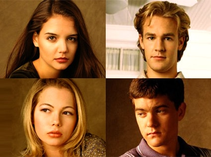 Katie Holmes, James Van Der Beek, Michelle Williams, Joshua Jackson, Dawson's Creek