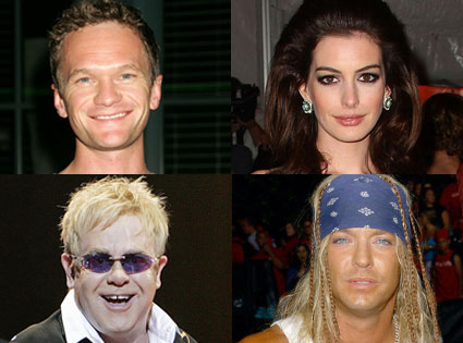Neil Patrick Harris, Anne Hathaway, Elton John, Bret Michaels