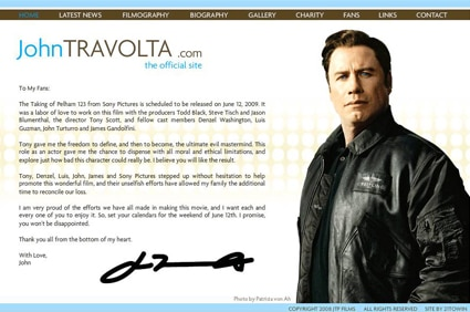John Travolta Blog, travolta.com