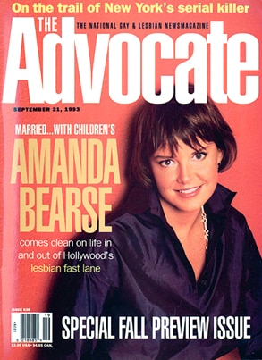 Amanda Bearse, The Advocate Magazine