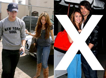 Miley Cyrus, Justin Gaston, Nick Jonas