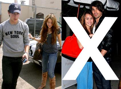 Miley Cyrus, Justin Gaston, Nick Jonas