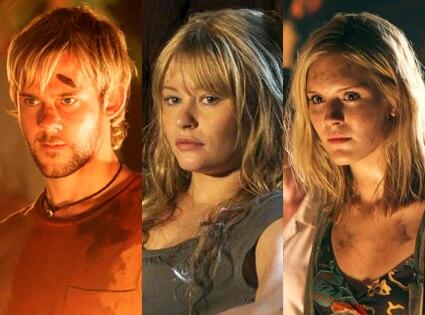 Dominic Monaghan, Emilie De Ravin, Maggie Grace, Lost