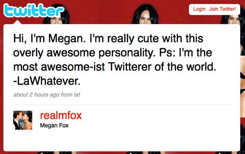 Megan Fox's Twitter Page