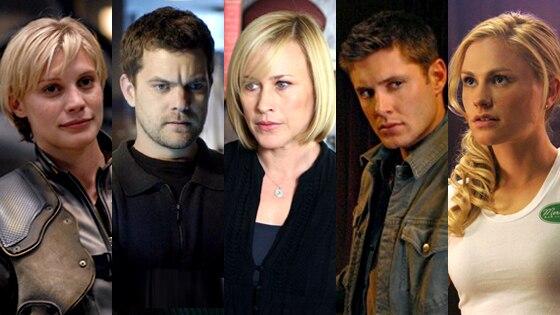Katee Sackoff (Battlestar Galactica), Joshua Jackson (Fringe), Patricia Arquette (Medium), Jensen Ackles (Supernatural), Anna Paquin (True Blood)