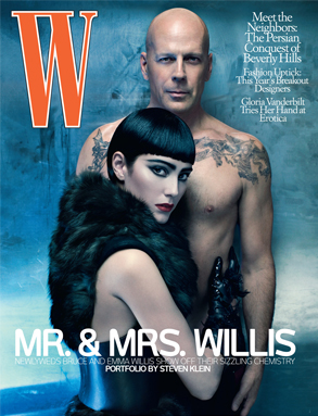 Bruce Willis, Emma Willis W Magazine Cover