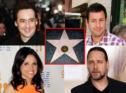 John Cusack, Adam Sandle, Julia Louis-Dreyfus, Russel Crowe, Star