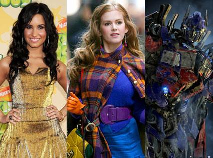 Demi Lovato, Isla Fisher, Transformers