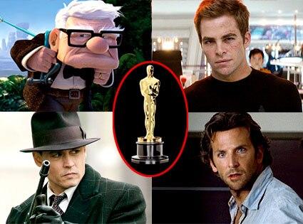 Up, Chris Pine, Star Trek, Johnny Depp, Public Enemies, Bradley Cooper, Hangover, Oscar Statue