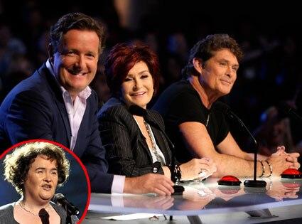 Piers Morgan, Sharon Osbourne, David Hasselhoff, Susan Boyle, America's Got Talent