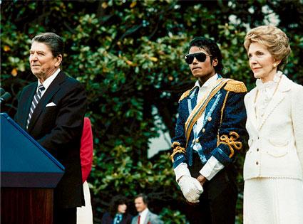 President Ronald Reagan, Michael Jackson, Nancy Reagan