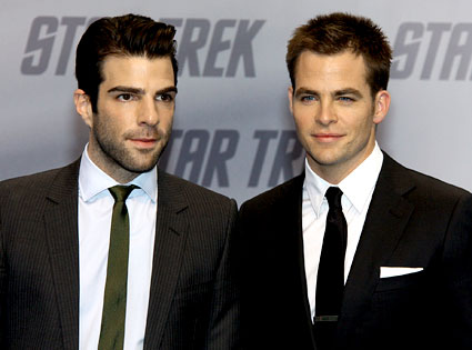 Zachary Quinto, Chris Pine