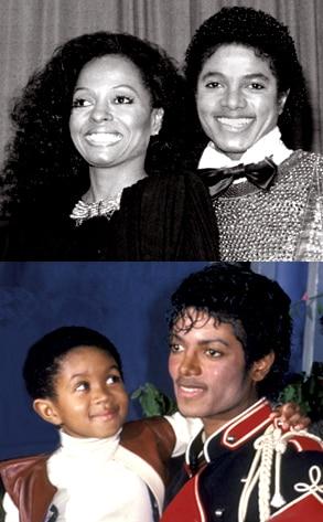 Diana Ross, Emmanuel Lewis, Michael Jackson