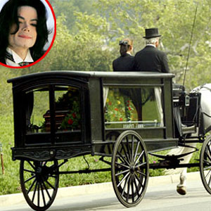 Funeral Carriage at Forest Lawn Hollywood, Michael Jackson