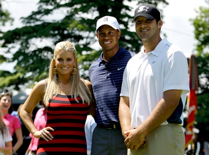 Jessica Simpson, Tiger Woods, Tony Romo