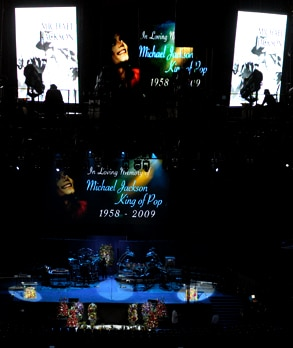 Staples Center, Michael Jackson Memorial