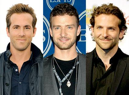 Ryan Reynolds, Justin Timberlake, Bradley Cooper