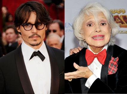 Johnny Depp, Carol Channing