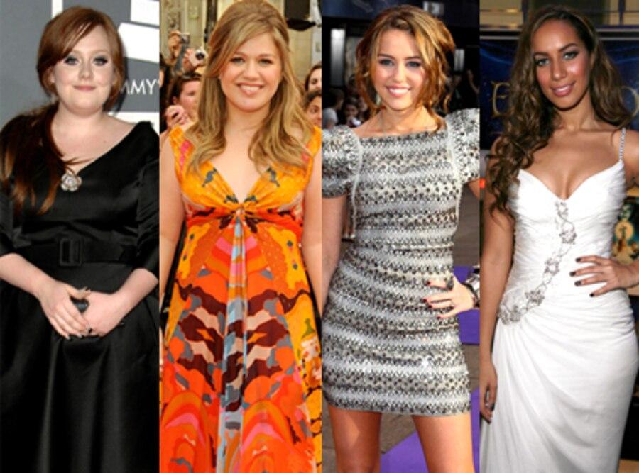 Adele, Kelly Clarkson, Miley Cyrus, Leona Lewis