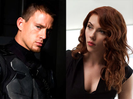 Channing Tatum, G.I. Joe: The Rise of Cobra, Scarlett Johansson, Iron Man 2