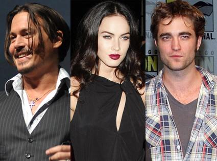 Johnny Depp, Rob Pattinson, Megan Fox
