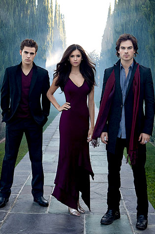 Paul Wesley, Nina Dobrev, Ian Somerhalder, The Vampire Diaries