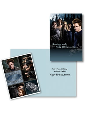 Twilight, Birthday Card, Stickers, Robert Pattinson, Kellen Lutz, Ashley Green, Jackson Rathbone, Nikki Reed