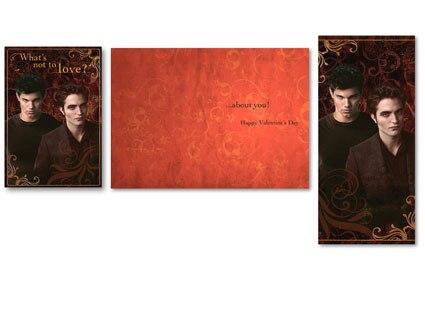 New Moon, Valentine Card, Robert Pattinson, Taylor Lautner