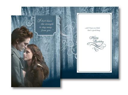 Twilight, Birthday Card, Robert Pattinson, Kristen Stewart